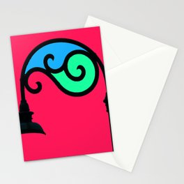 Street Lamp in My Mind Stationery Cards