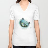 cheshire cat V-neck T-shirts featuring Cheshire Cat by digiartpicture