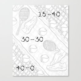Illustration of Tennis Sport Scene Canvas Print