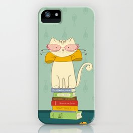 Criticat - your best book reviewer  iPhone Case