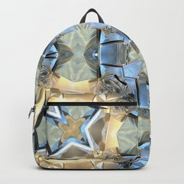 Reflections of Blue And Gold Backpack