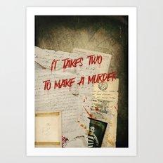 Murder Board Art Print