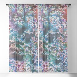 Abstract watercolor splash background Sheer Curtain
