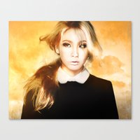 2ne1 Canvas Prints featuring Ciel 2ne1 kpop fanart by LC_Korim