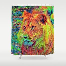 AnimalColor_Lion_004_by_JAMColors Shower Curtain