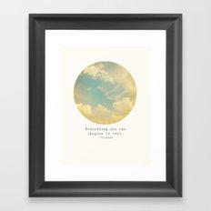 Real Framed Art Print