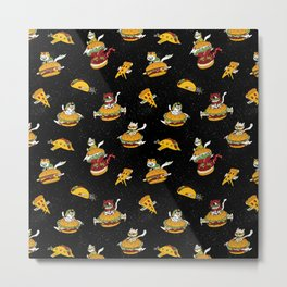 I Can Haz Cheeseburger Spaceships? Metal Print