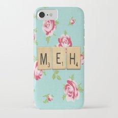 Floral Meh Scrabble Tiles iPhone 7 Slim Case