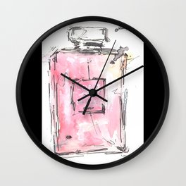 parfum bottle (pink)  Wall Clock