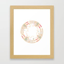 Rabbit Moon Framed Art Print