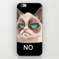 grumpy iPhone & iPod Skins featuring Grumpy by Corelle_Vairel