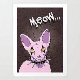 GOTH CAT Art Print