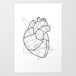 Vector Heart Art Print