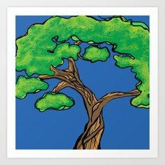 gnarly tree Art Print