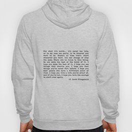 For what it's worth... F. Scott Fitzgerald Hoody