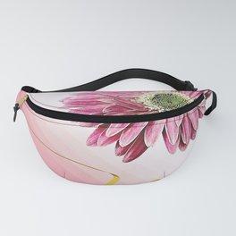 pink gerbera daisy with ribbon Fanny Pack