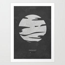 Twilight - minimal poster Art Print