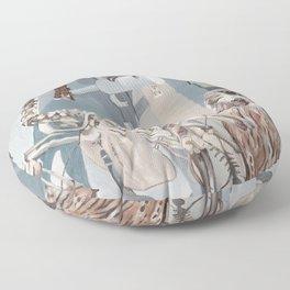 Peregrine Falcon and Kestrels Floor Pillow