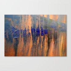 blue over orange Canvas Print
