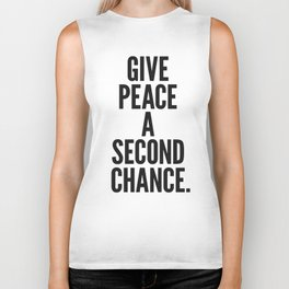 Give Peace a Second Chance. Biker Tank