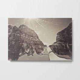 peaks at mount assiniboine Metal Print