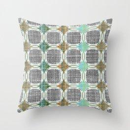 Mod linen Throw Pillow