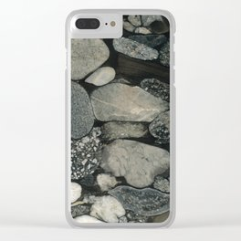 Marble Pebbles Clear iPhone Case