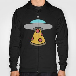 UFO Alien Abduction Pizza Party Hoody