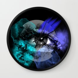 Eye of a color Wall Clock