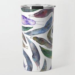 Watercolor Slugs Travel Mug