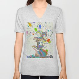 The Dancing Fountain Unisex V-Neck