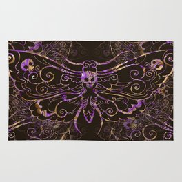 Hawkmoth Pattern in purple and brown Rug