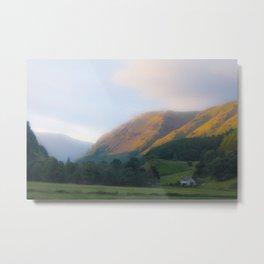 Golden Mountain Sunset Metal Print