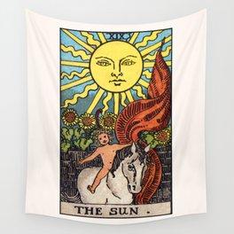 XIX. The Sun Tarot Card Wall Tapestry