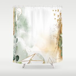 Mystic golden botanics Shower Curtain