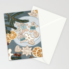 Gingerbread Men Cookies Stationery Cards