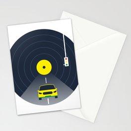 Music car and vinyl #society6 #decor #buyart #artprint Stationery Cards