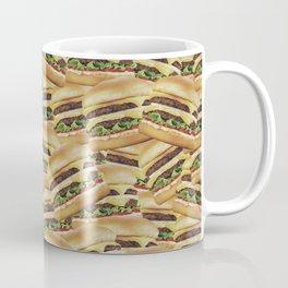 Vintage Cheeseburger Pile Print Coffee Mug