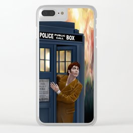 10th Doctor Shockface Clear iPhone Case