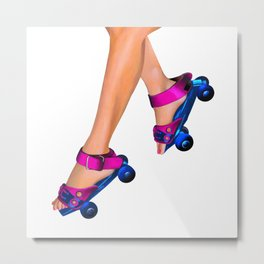 roller skating Metal Print