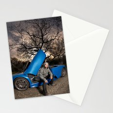 Bam Margera - Eerie tree, Blue ride Stationery Cards