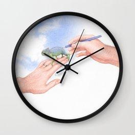 Blue Skies by Lars Furtwaengler | Colored Pencil | 2013 Wall Clock