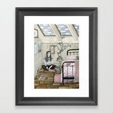 Girls bedroom Framed Art Print