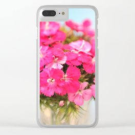 A Pink Kiss - Glowing Flowers #1 #decor #art #society6 Clear iPhone Case