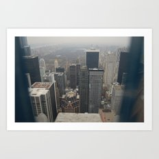 Skyline in Perspective Art Print