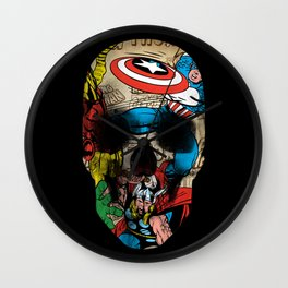 Comics Skull Wall Clock
