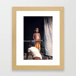 10 kids Framed Art Print