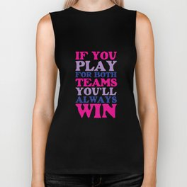If You Play for Both Sides Funny Bisexual T-shirt Biker Tank