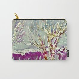 Winter Trees Purple Teal Gold Buffalo by CheyAnne Sexton Carry-All Pouch