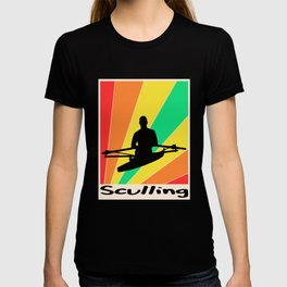 Sculling poster Rowing T-shirt